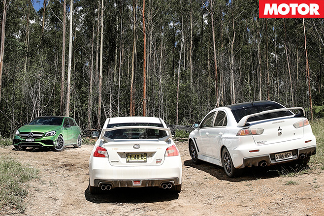Lancer vs wrx vs hot hatches