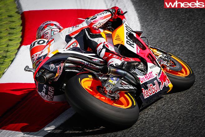 Moto GP-Marc -Marquez -corner