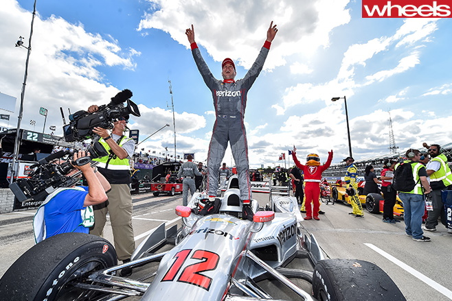Power -standing -celebrating -Indycar