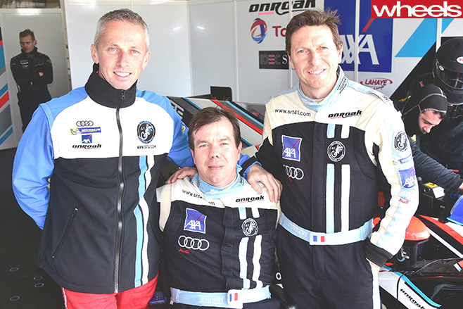 Quadruple -Amputee -at -Le -Mans -pictured -with -team -and -car