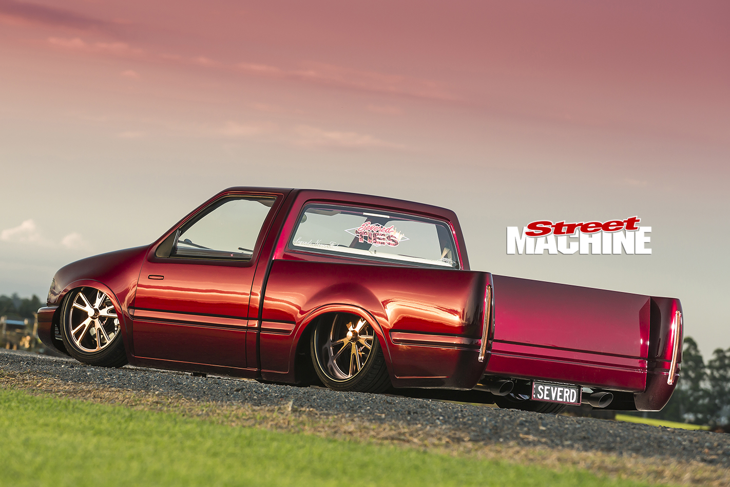 Holden Rodeo Slammed Rear Angle