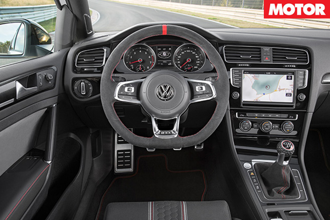VW Golf GTI 40 Years interior
