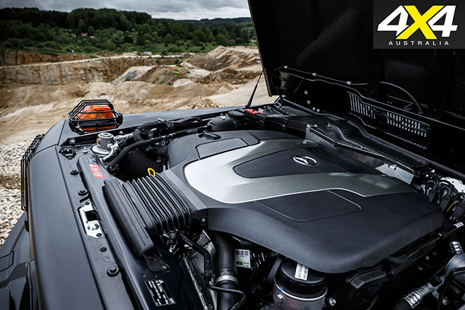 Mercedes Benz G350d Professional engine