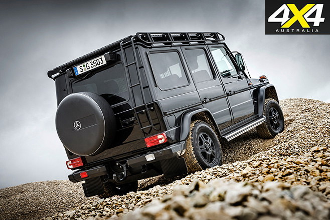 Mercedes-Benz G350d Professional rear uphill