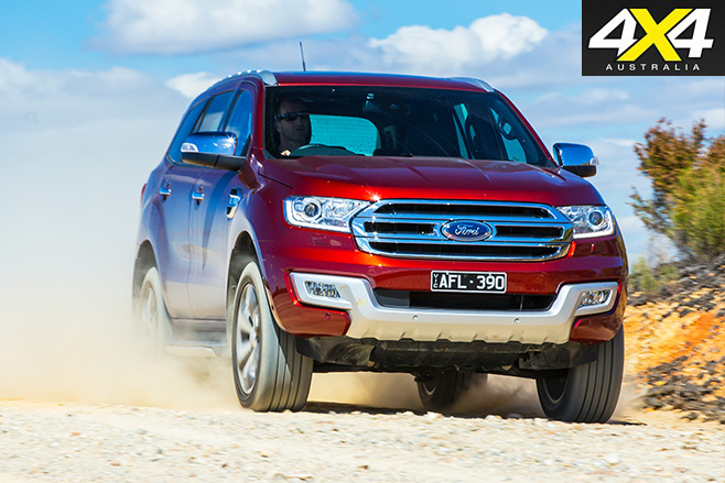 Ford everest titanium front