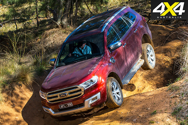 Ford everest downhill driving