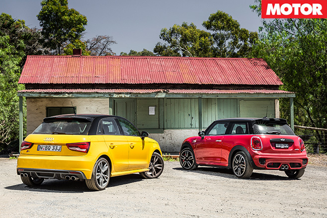Audi S1 vs MINI Cooper JCW rear