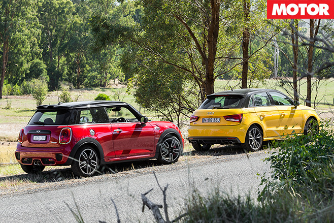 Audi s1 and mini jcw side