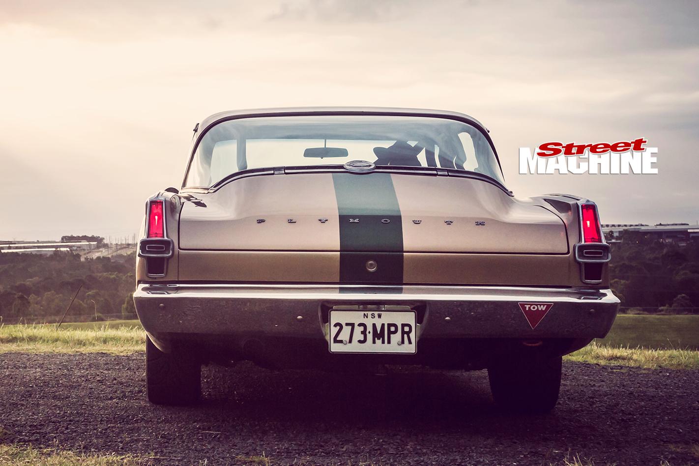 Plymouth -Barracuda -rear -view