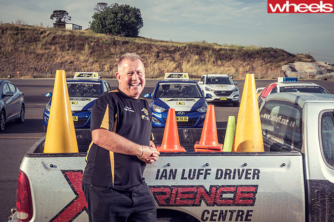 Ian -Luff -advanced -driving -course -instructor -standing -in -front -of -ute
