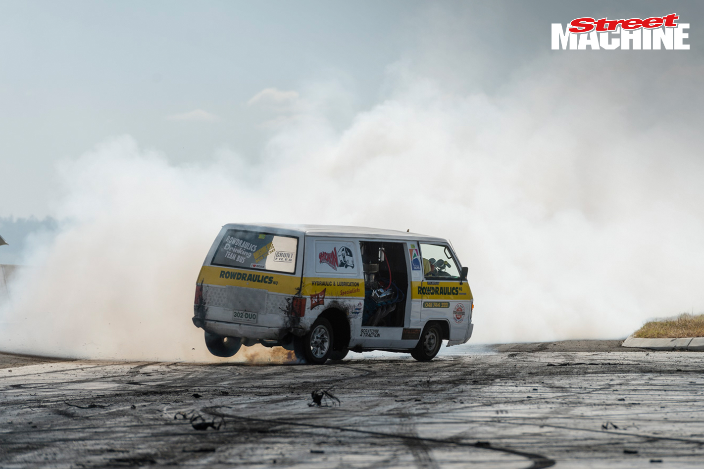 Burnout Van Twin Engine
