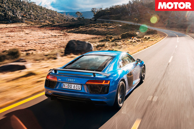 Audi R8 V10 Plus review rear