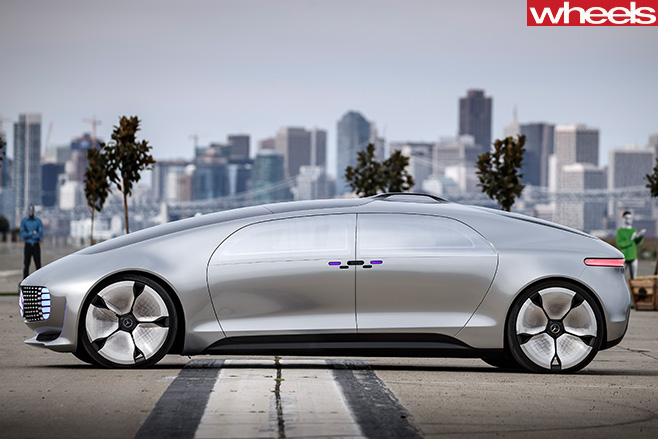 Mercedes -Benz -Electric -Car -side -silver