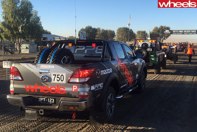 Wheels -Mazda -BT-50-at -starting -line