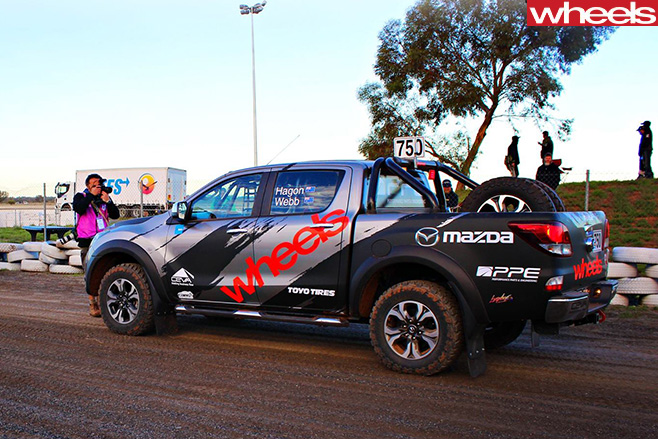 Wheels -Mazda -BT-50-side -rear -at -Finke -Desert -Race -2016