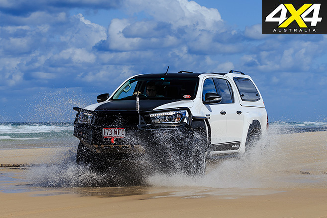 Afn hilux driving through water
