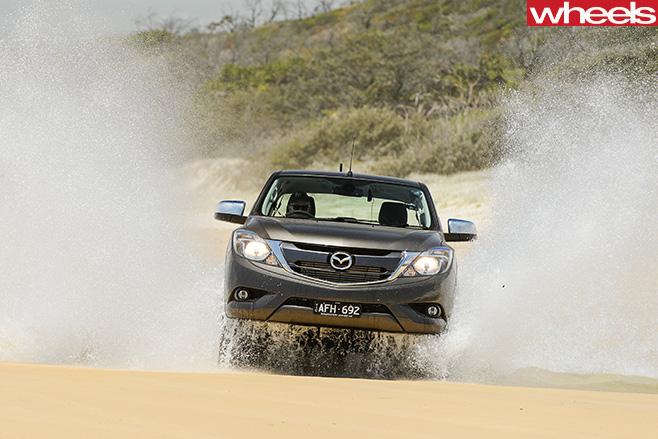 Mazda -BT-50-driving -through -water