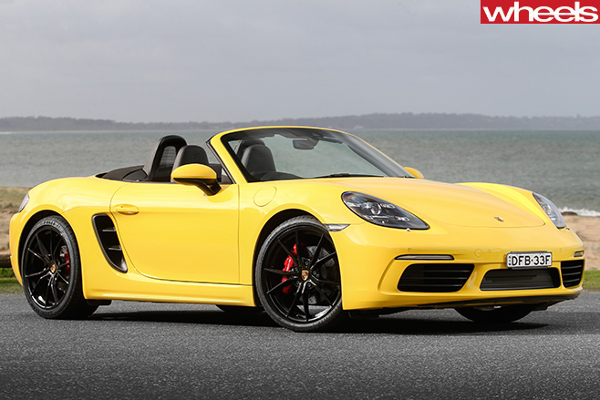 Porsche -Boxster -yellow --side