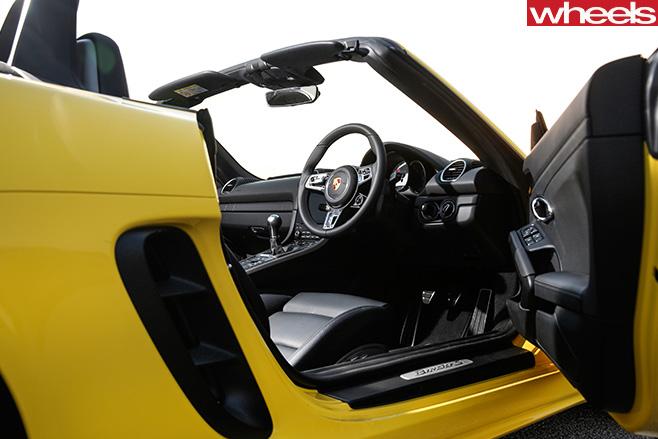 Porsche -Boxster -door -open