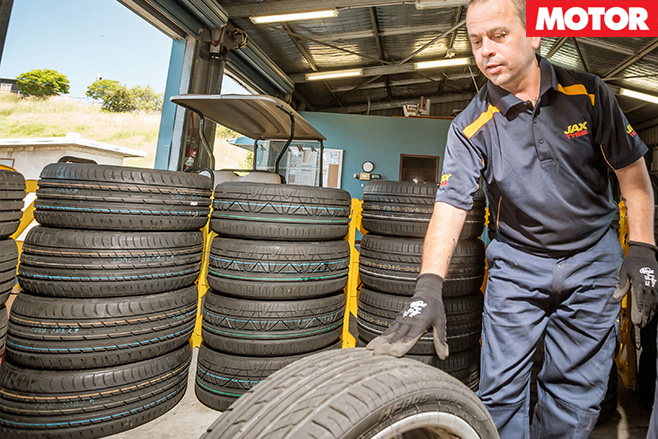 Tyres in the garage