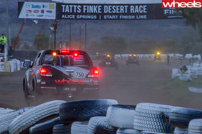 Finke -Desert -Race -Mazda -BT-50-rear -finish -line