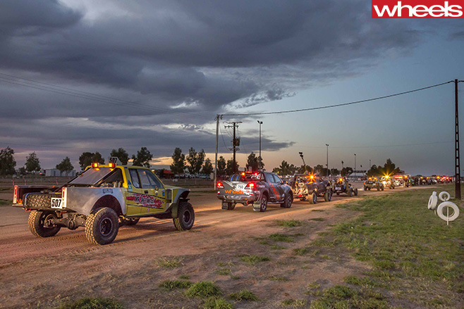 Finke -Desert -Race -Mazda -BT-50-lined -up