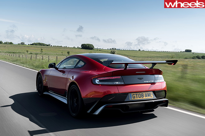 Aston -Martin -Vantage -GT8-driving -rear