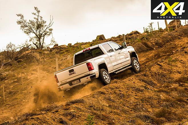 GMC sierra uphill driving