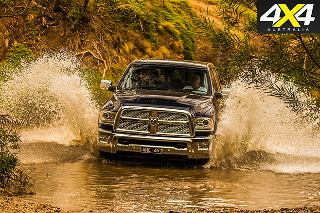 Ram laramie driving -through water