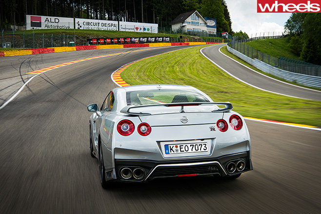 Nissan -GT-R-rear -around -Spa