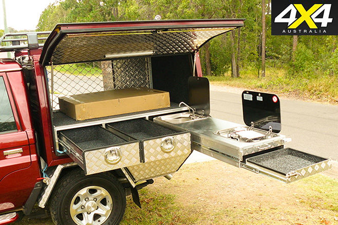 Canopy storage set-up with sink & 4x4 buyersu0027 guide: Custom canopies | 4X4 Australia