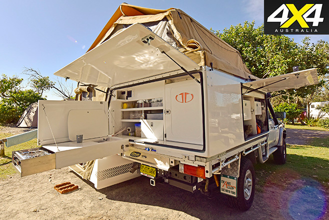 Custom canopy with comprehensive storage system & 4x4 buyersu0027 guide: Custom canopies | 4X4 Australia