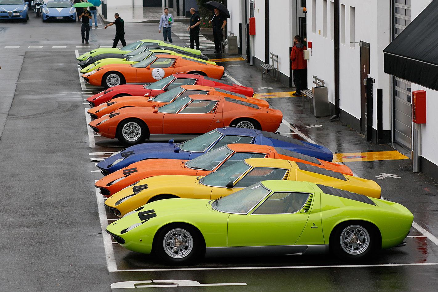 Lamborghini -Miura -50th -Anniversary -tour