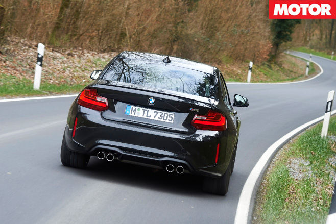 Bmw m2 driving rear