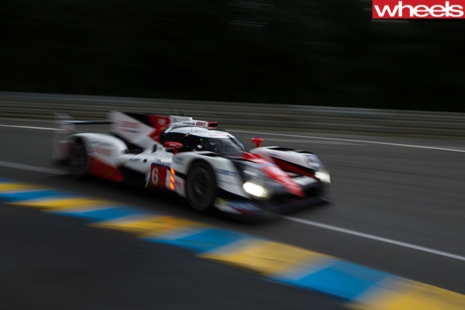 Toyota -Le -Mans -car -driving -front -side
