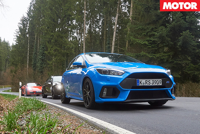 Ford focus rs in front