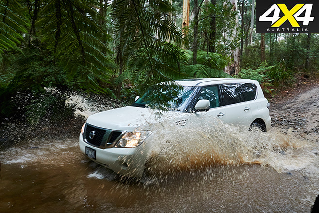 Y62 Nissan Patrol Ti river crossing