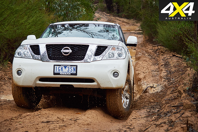 Y62 Nissan Patrol Ti uphill driving