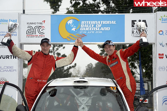 Rally -car -drivers -Ryan -Smart -and -John -Allen