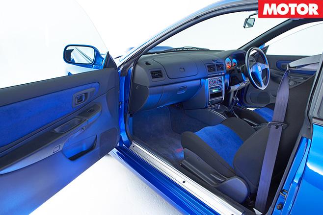 1999 Subaru WRX STi 22b interior