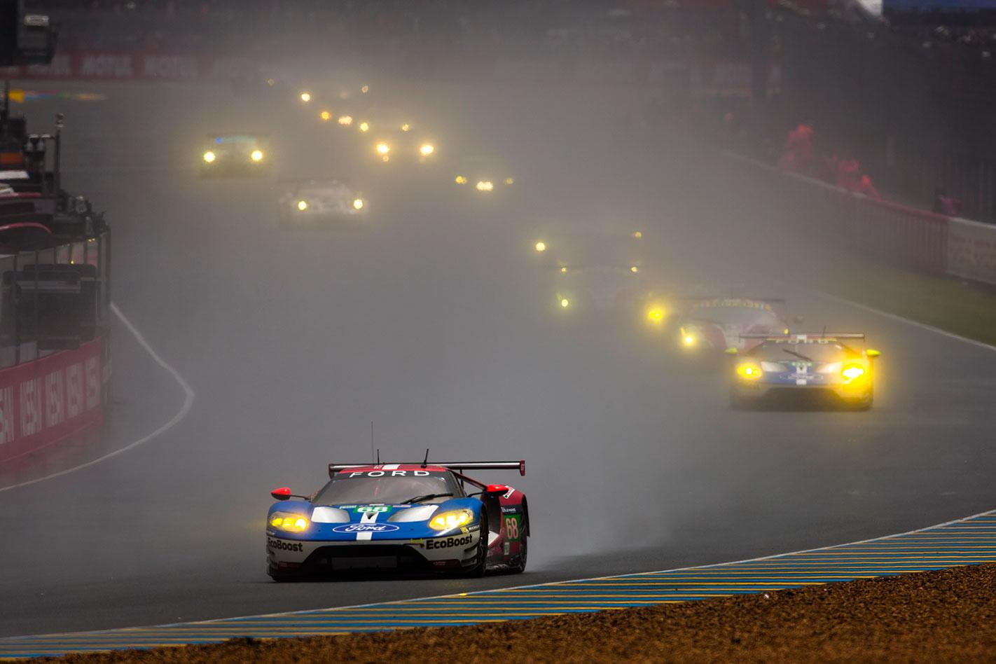 Ford GT Le Mans rain