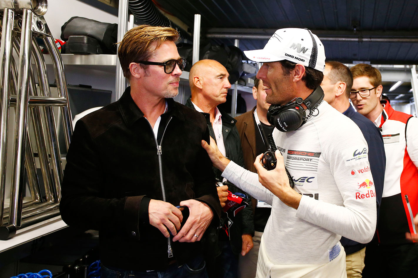 Le Mans 2016 Brad Pitt and Mark Webber