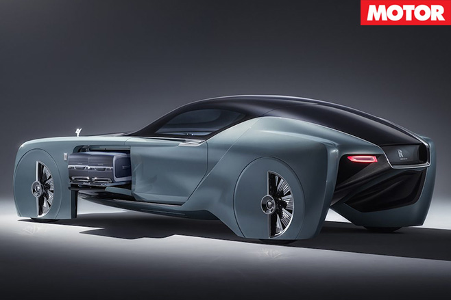 Rolls Royce Vision 100 concept rear