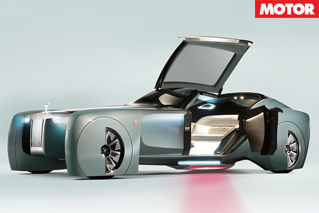 Rolls-Royce Vision 100 concept doors open