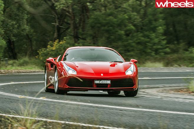 Ferrari -488-GTB-driving -front