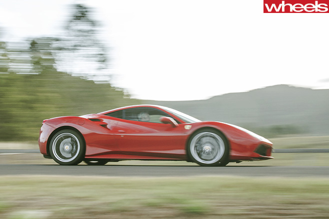 Ferrari -488-GTB-driving -side