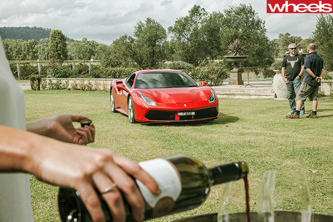 Ferrari -488-GTB-with -wine