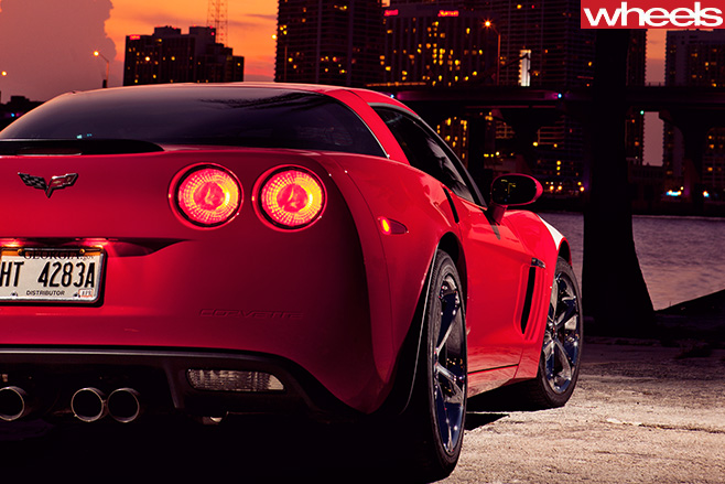 Chevrolet -Corvette -rear -overlooking -city