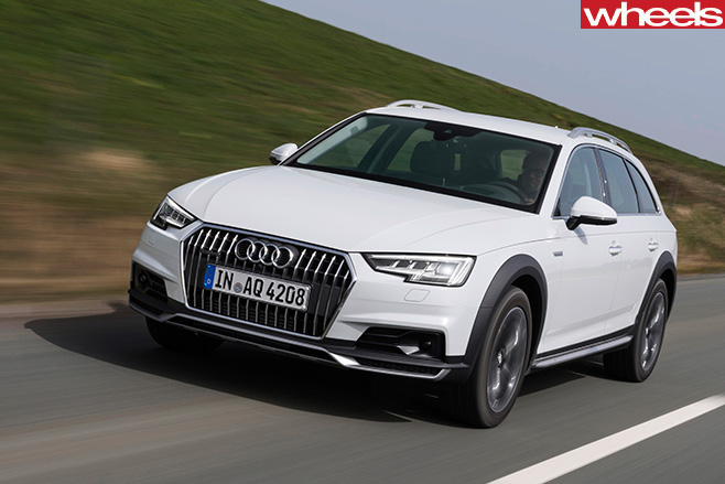 Audi -A4-Off -road -Quattro -front -side -driving