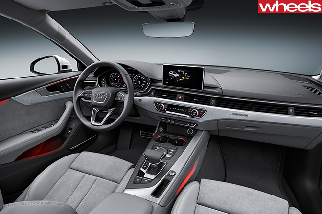 Audi -A4-Off -road -Quattro -interior -console
